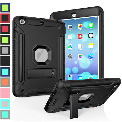 For Apple iPad Mini 1 2 3 4 5 Heavy Duty Military Rugged Stand Tablet Case Cover