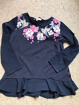 Baker By Ted Baker Girls Bird And Floral Top - Sz 6 - 7 Years