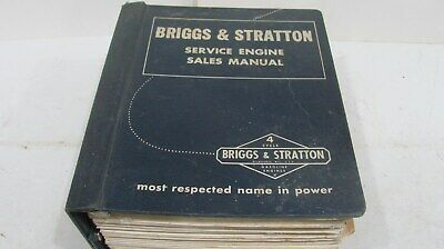 Briggs & Stratton Service Engine Sales Manual   Local Pickup Only