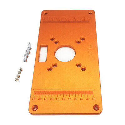 Router Table Insert Plate Orange Woodworking Benches Trimming Supplies