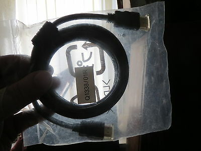 Hdmi Cable (1 Meter) With Ferrite Noise Suppressors