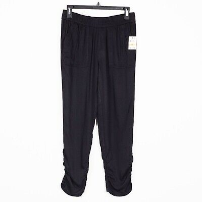 Style Co Womens Sz PS Black Tapered Leg Jogger Pants Mid Rise Comfort Waist NWT