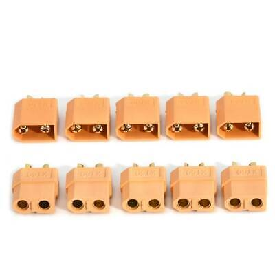 Lots 5 Pairs 10Pcs XT60 Male &Female Bullet Connectors Plugs for RC Lipo Battery