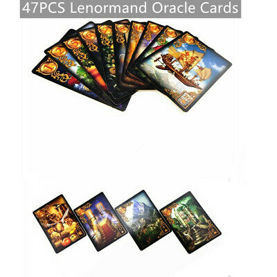 47PCS Read Fate Lenormand Oracle Cards Tarot Desk Mysterious Fortune Cards Game
