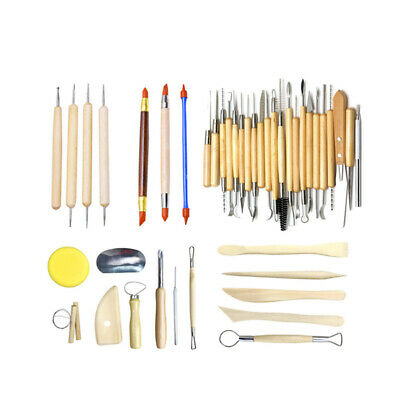 42PC Carving Pottery Tools Shapers Clay Sculpter Sculpting Modelling Ceramic Set