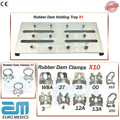 Endodontics Rubber Dam Clamps Universal Brinker Clamp Holding Tray Dental Tools