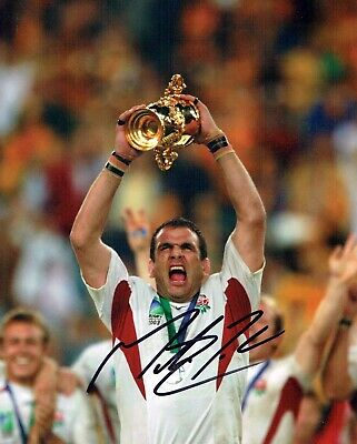Martin JOHNSON Signed Autograph 10x8 ENGLAND RUGBY World Cup Photo AFTAL COA