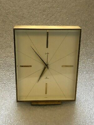 SWIZA Brass Design 8 days Table Clocks Mantel Clock Alarm Clock 7 Jewels FREE PP