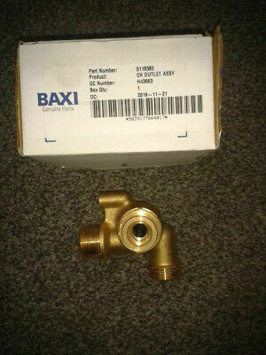 Baxi / Main / Potterton Outlet Assy Part Number 5118382