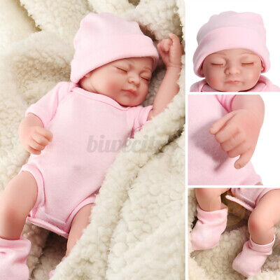 11'' Reborn Baby Girl Dolls Handmade Full Body Vinyl Silicone Newborn Toy Gift