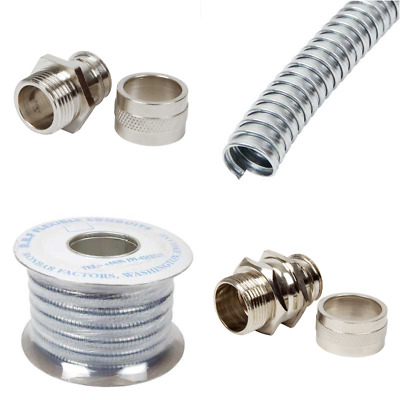 Ronbar Galvanised Flexible Conduit - Fixed And Swivel Glands