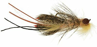 Bass, Bream, Perch, Catfish Fly Fishing Flies Realistic Crayfish Tan Orange x6