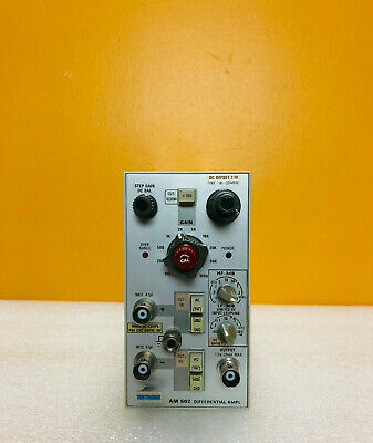 Tektronix AM502 DC to 1 MHz Diferential Amplifier Plug-In. Tested!