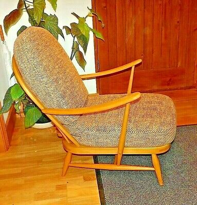 Mid Century  of Ercol Blonde Windsor 203 Lounge Chair Vintage Retro