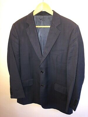 The Savile Row Company Navy Check Suit 40R W34 L32