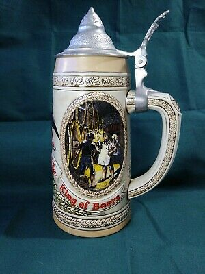 """Anheuser-Busch Budweiser """"E"""" Series Limited Edition 34699 Stein with Lid"""