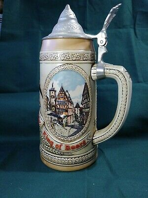 """Anheuser-Busch Budweiser """"M"""" Series Limited Edition 42672 Stein with Lid"""