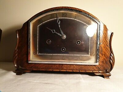 Antique 'HAMBURG AMERICAN CLOCK CO' Mantle Clock WESTMINSTER CHIMES