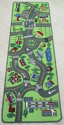 Children's Play Rug Activity City Roads Track Learning Rug Mat (AD)