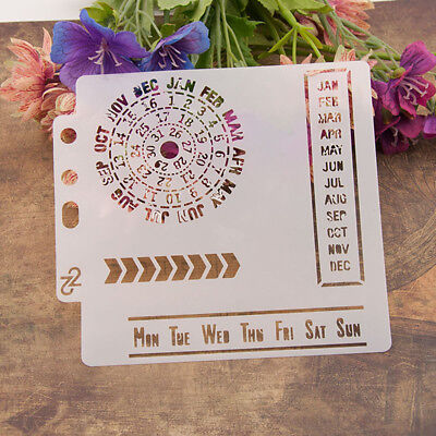Reusable calendar Stencil Airbrush Art DIY Home Decor Scrapbooking Album Craf-PN