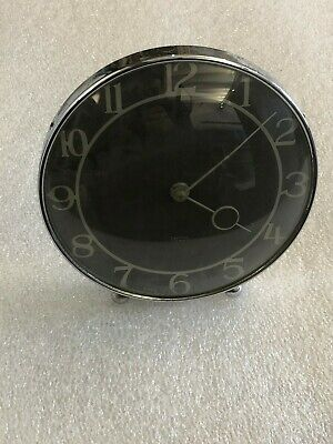 SMITHS 30 hour Table Mantel Clock BAKELITE Chrome Made in GB FREE P&P