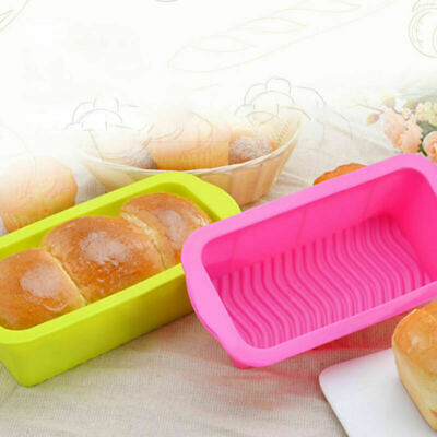 Silicone Bread Loaf Cake Mold Non Stick Bakeware Baking Kitchen Pan P7I4