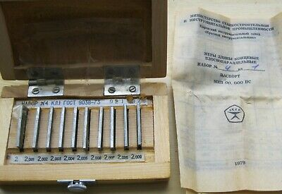 Precision Metric Gauge Block class 1 SET 10 pcs 2.000-2.009 mm.