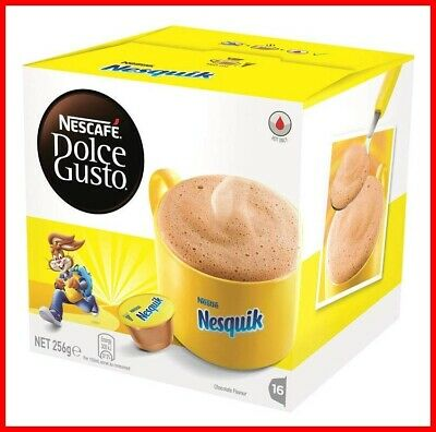 NESCAFE Dolce Gusto Nesquik Chocolate Coffee Pods, 16 Capsules (16 Serves) 256g