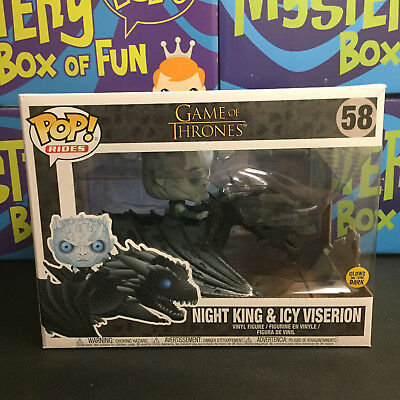 Funko Pop Rides #58 Game Of Thrones Night King & Icy Viserion Glow In The Dark