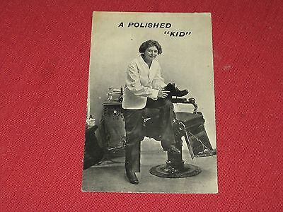 "Vintage ""A Polished Kid!"" Postcard NOS EXC Series 80"