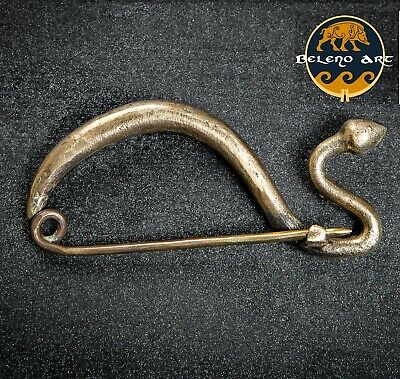 CELTIC LA TENE BRONZE FIBULA brooch greek roman gallic Kelten reenactment pin