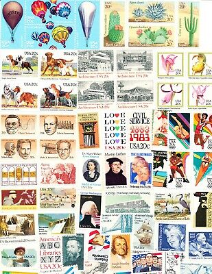 94 Different 20 Cent U.S. Postage Stamps, all Mint Never-Hinged!!