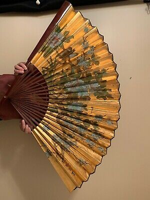 Antique Oriental Japanese Chinese Hand Fan