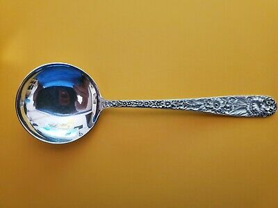 "S. Kirk & Son Inc. REPOUSSE Sterling Silver 6"" Cream Soup Spoon"