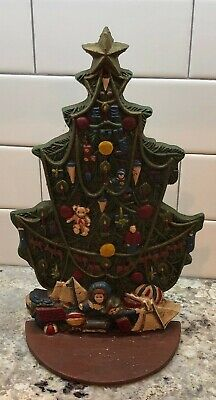 Vintage Midwest Importers Cast Iron Christmas Tree Ornaments Door Stop Stopper