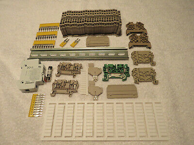 New Lot Of Weidmuller Terminal Blocks DIN Rail Diode Label Jumper Ground Fuse