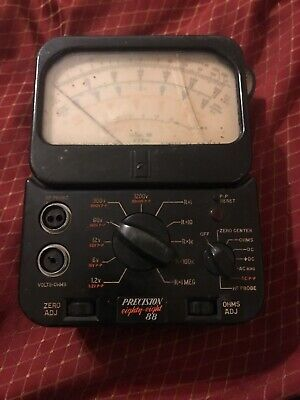 Vintage Precision Aparatus Co. Eighty Eight (88) VTVM Volt Meter