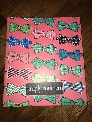 Simply Southern Bowtie Print Hardcover Spiral Bound Notebook