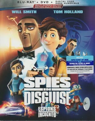 Spies In Disguise (BLU RAY+DVD+DIGITAL) ***BRAND NEW.SEALED*** WILL SMITH