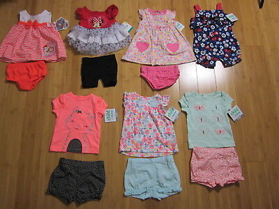 new LOT 7 outfits sets GIRL 0-3 months dress diaper cover 2-pieces 13pcs clothes