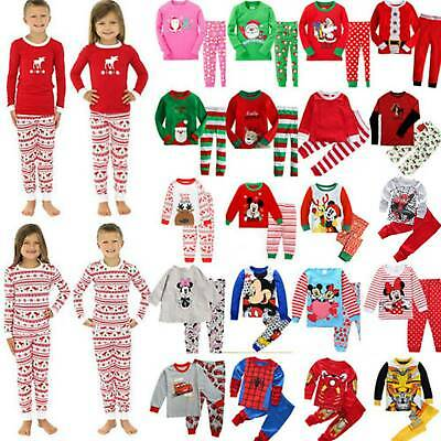 Boy Baby Kid Pyjamas Pajamas Sleepwear Nightie Pj's Nightwear Winter T-Shirt Top