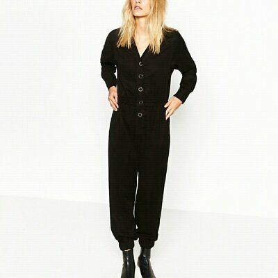 ZARA LONG JUMPSUIT LYOCELL PREMIUM DENIM COLLECTION OVERALL SIZE M 8514//241