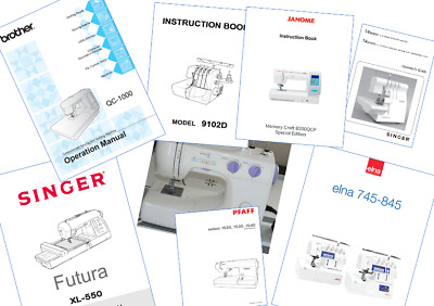 Sewing Machine User Manuals and Instruction Manuals