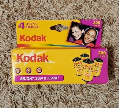 KODAK Gold  200  Film  New 4  Rolls Bright Sun & Flash