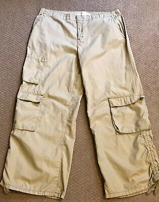 Womens Tommy Hilfiger Jeans Nylon Blend Cargo Pants - Size 12 - Beige/Tan
