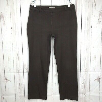 Chicos Womens Stretch Twill Straight Leg Trouser Pants Size 2.5 Large Brown