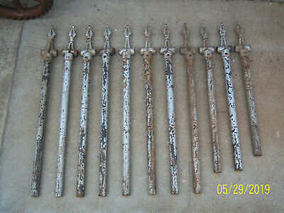 11 Vintage Metal Cast Iron Fence Post Top Chain Link Cemetery Fence Post Finial