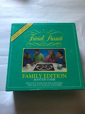 Trivial Pursuit Family Edition Game A6351 630509288762 used