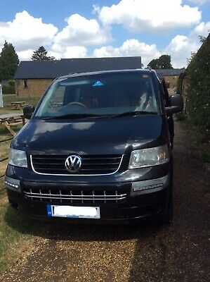 Black VW T5 Transporter