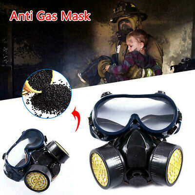 Anti Gas Mask Survival Safety Respiratory Emergency Filter Goggle Face Mask